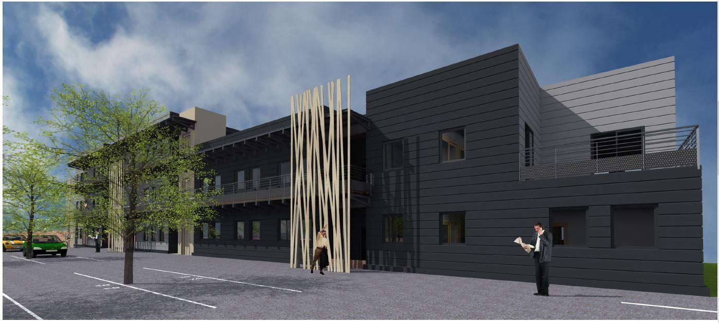 Nouveau bâtiment de l'AST Privas au Pouzin